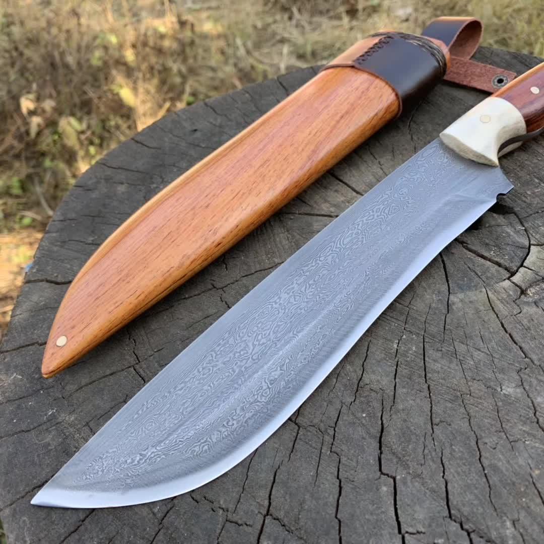 户撒精品花纹钢镶丝平头刀