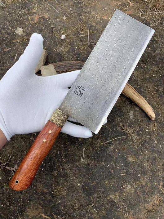 精品《花纹钢》斩切两用刀