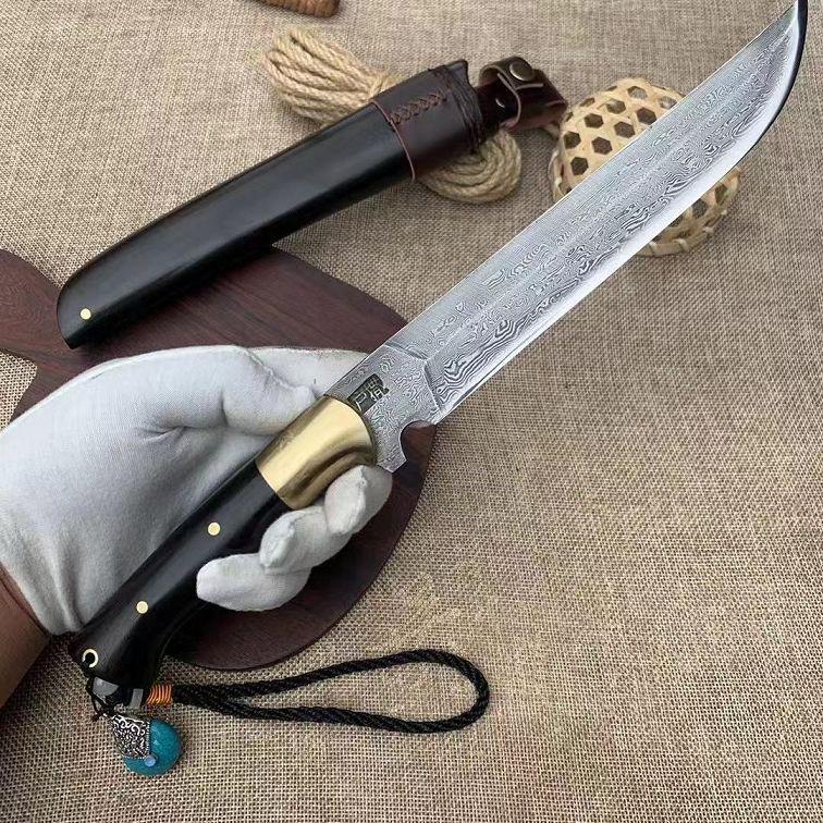 户撒尚【生存者】黑檀木纯铜搭配花纹钢刀