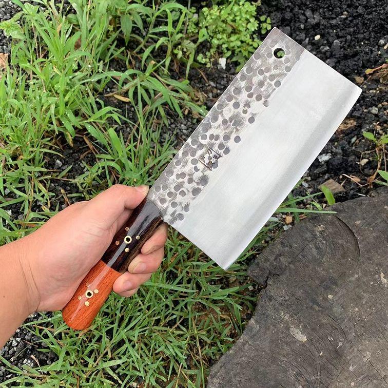 户撒菜刀永不生锈一刀两用纯手工锻打家用菜刀鉴赏