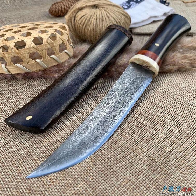 民族吃肉小刀百炼钢手工锻打