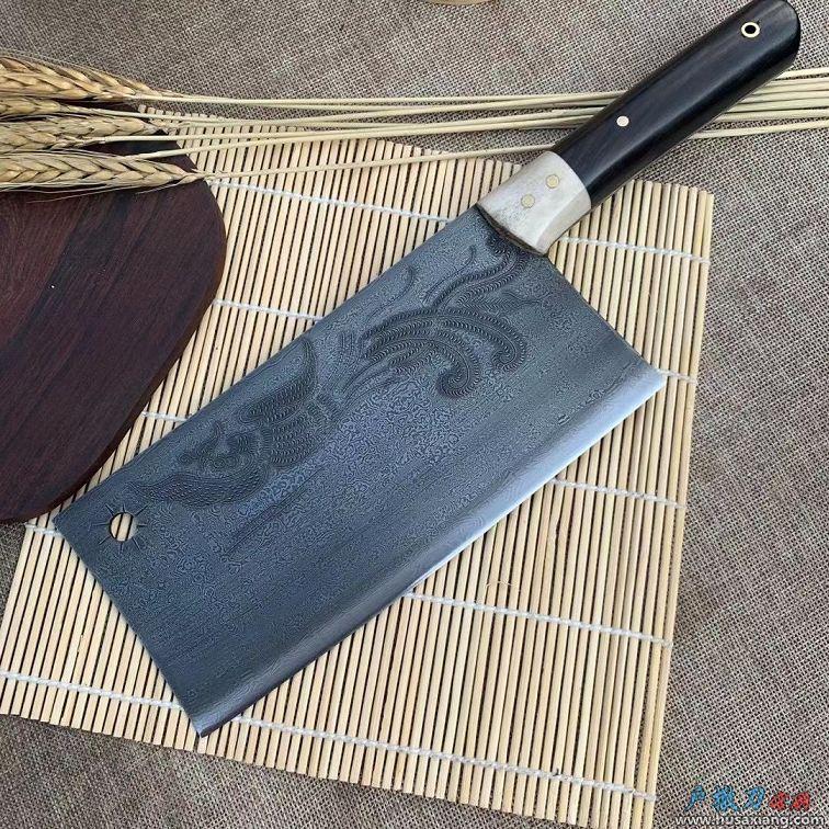 雕龙刻凤斩切两用花纹钢菜刀限量版
