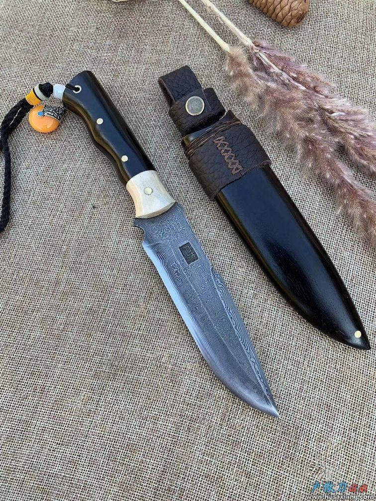 仁者丶花纹钢高端匕首
