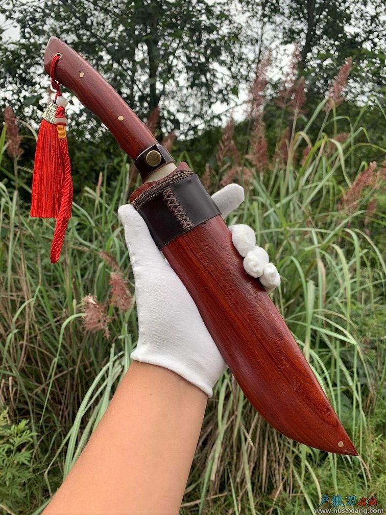 大红酸枝梅花山鹿猎刀