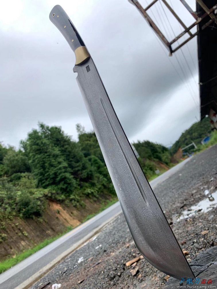 花纹钢大团头开山刀