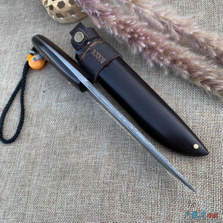 纯黑檀木梅花山鹿匕首