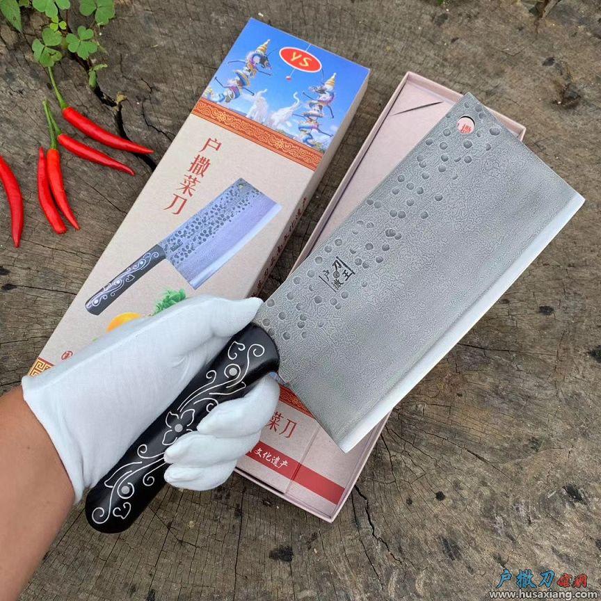 升级款花纹钢雕花菜刀