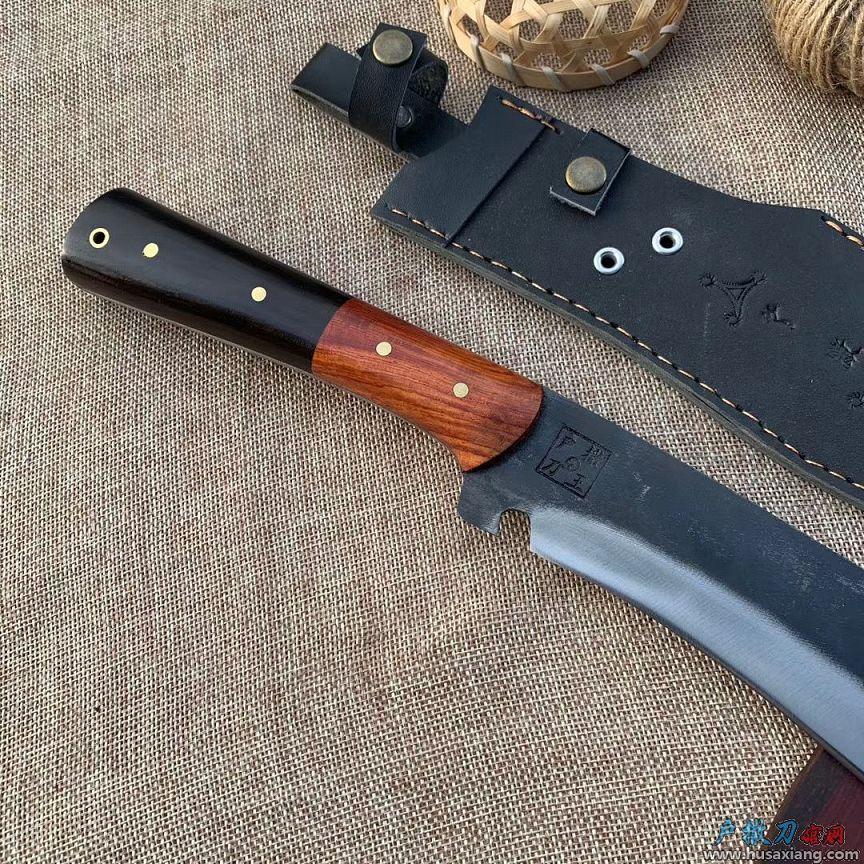 『鉴赏』平面款锻打狩猎刀