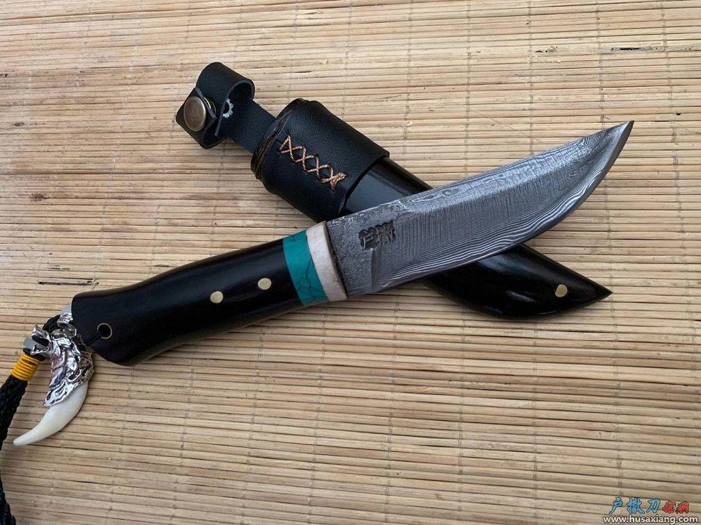 『鉴赏』户撒北极星花纹钢手工刀