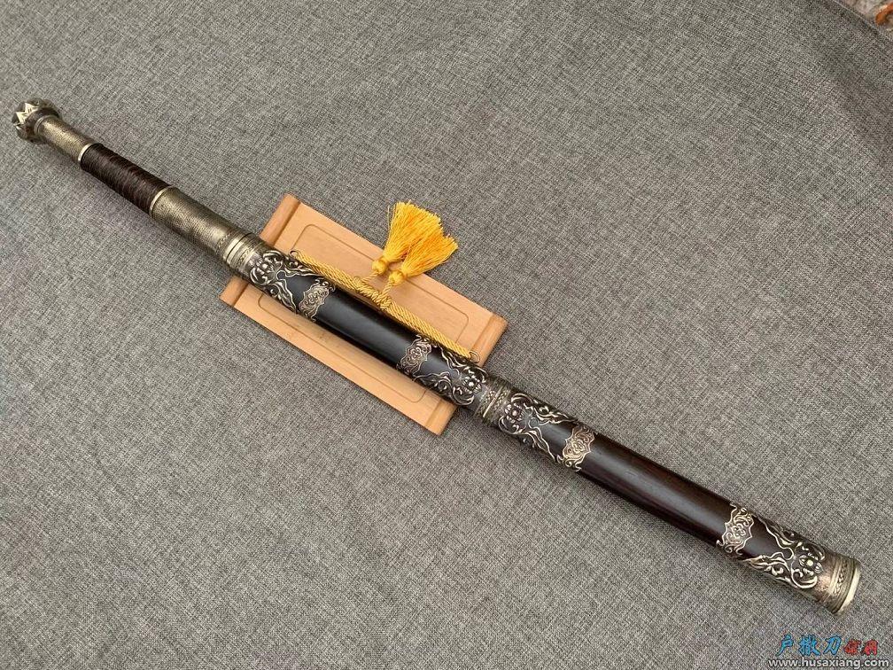 『鉴赏』木邦刀古典包铜雕刻花草国风十足